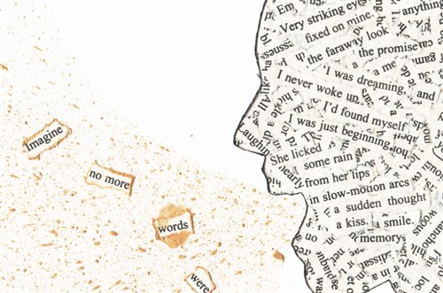Found Poetry image by Nikki Smith of BookSmithStudio @ cloth.paper.scissors used with permission